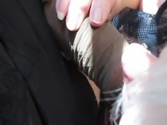 She blows my Nylon dick