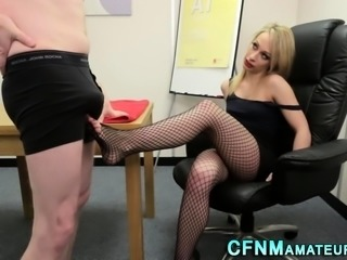 Feetfucked cfnm domina