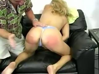 Stunning Rachel gets spanked brutally and fingered