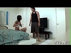 Two depraved chicks milk their fellow-student absolutely dry