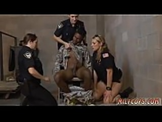 Two police Fake Soldier Gets Used as a Fuck Toy