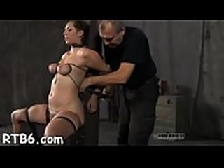 Beautiful slaves are tied and given hardcore bdsm castigation