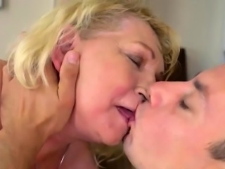 Hairy Blonde Wife Gets Nailed