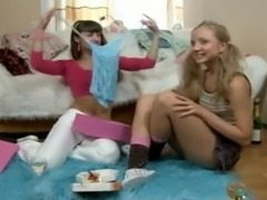 HORNY LESBIAN GETS TOYING