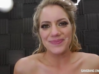 blonde, gangbangcreampie, orgasm, squirting, butt, petite, b