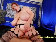 POV straddled by a big bosoms whore