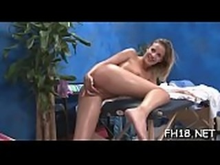 Cute hawt 18 year old gets drilled hard from behind by her massage