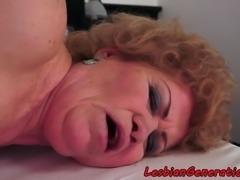 Chubby mature rimming tattooed lesbian