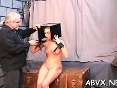 Flaming nude flogging and dilettante bizarre bondage porn
