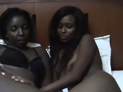 Busty African hottie know how to make each other pleased.