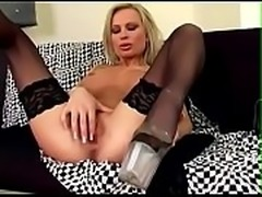 Sexy milf in lingerie masturbating on a couch. Girl from www.GetSex.CF