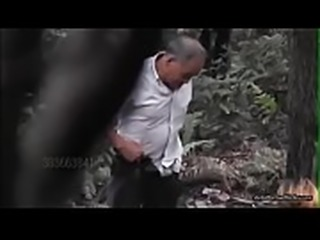 Chinese grandfather girl in forest - adultsmartlinks.org