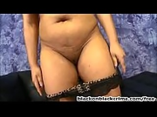 Big boobs ebony gags and pukes on BBC