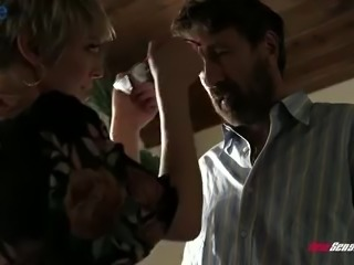 Wild big breasted blonde housewife Dee Williams is so into topping stiff dick