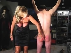 Femdom Obese Subs boobs slapped
