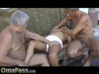Omapass grandma amateur sex footage compilation