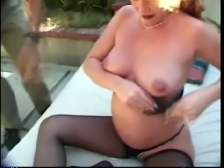 Nasty Outdoor Fucking After Cock Sucking By That Pregnant Slut