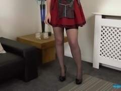 All alone MILF with small tits Anna Belle is ready to expose her naked body