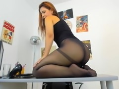 Shaking Ass on Office Desk