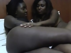 Watch this raunchy African with natural beauty lesbians