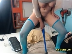 Hot Brunette extreme masturbation