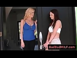 Quinn Wilde and Alexis Fawx horny busty milfs in threesome sex act