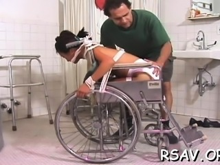 Slutty whore gets her a-hole slapped red while being bounded