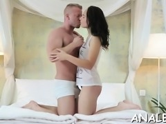 Super hot girl is getting a nice, hard cock up her a-hole