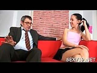 Horny teacher is pounding sweet sweetheart senseless
