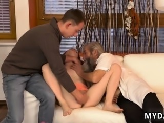 Licking cock and pussy at same time Unexpected practice with