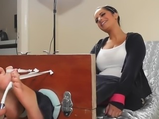 Jasmine jones bare foot tickle