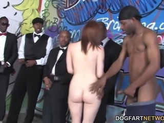 Violet Monroe Interracial Gangbang
