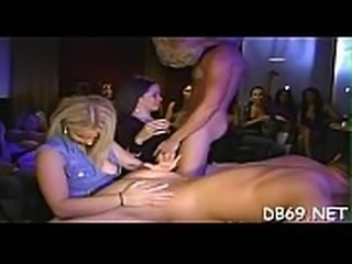 Cock hungry college gals getting their ever need fulfilled by the dancing...