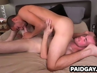 Kaden porter gives blowjob to straight stud before rimjob
