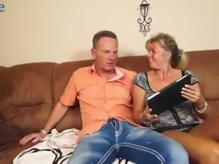 Mature married couple is happy to enjoy swinger sex for orgasm