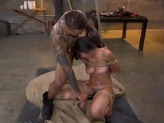 Anal Whore Kendra Spade Tied in Bondage, Made to Fuck Enormo