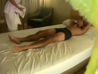 Beautiful Japanese masseuse enjoys a hard cock on hidden cam