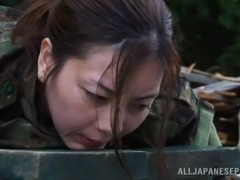 Japanese Military Girl Gets Stripped Out Of Her Uniform in BDSM Vid