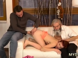 Teen bad girl Unexpected practice with an older gentleman