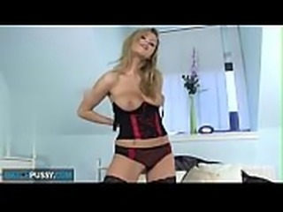 Stunning Amateur Mother with large breasts masturbates