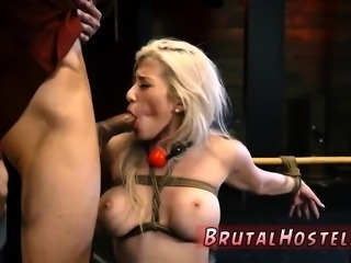 Hardcore bondage gangbang squirt Big-breasted blonde