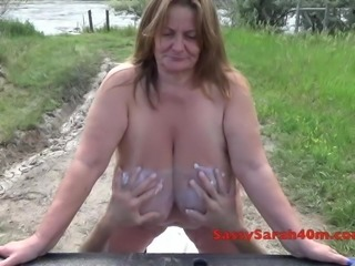 Mysterious hands for theses saggy tits