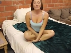 Have a look at really sexy slender babe masturbating her own shaved pussy
