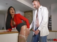 VODEU - Big titted secretary takes the boss' hard cock