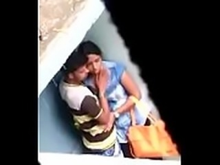 Assam Sexy girl boob&#039_s press at Barpeta Road Railway Station below over bridge