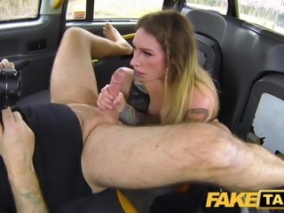 Fake Taxi Ava Austen in hot horny cab fuck to get her job