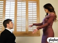 Huge tits woman in heels gets banged good by hard dick