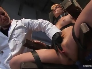 BDSM experiment with a slender honey Renee
