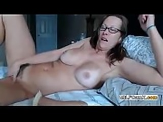 Sexy MILF hairy pussy and glasses