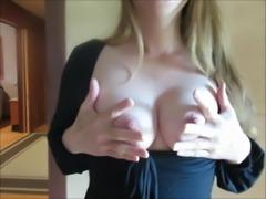 exhibitionist milf girlfriend nipples in little black dress